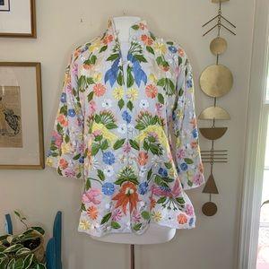 Vintage floral embroidered jacket size 12